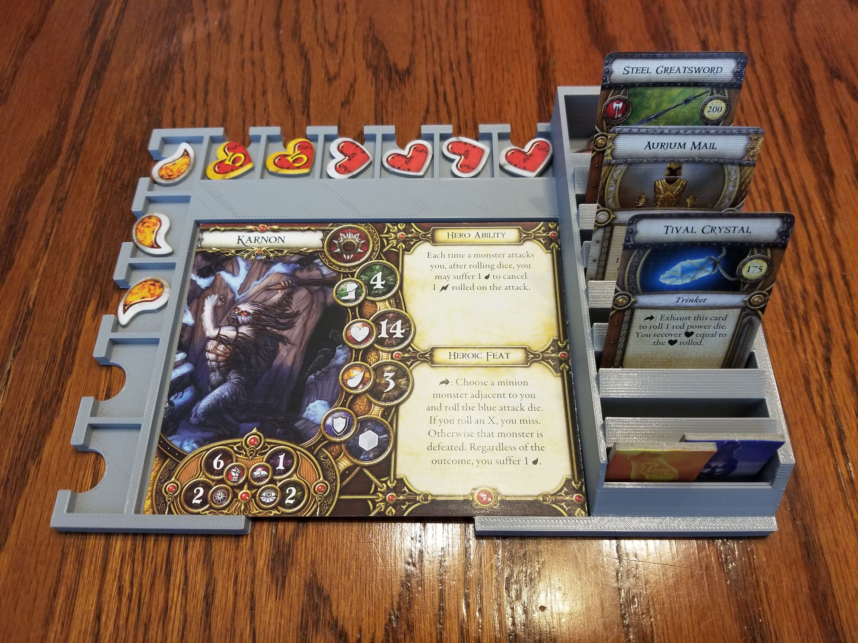 Descent Journey In The Dark Second Edition Hero Tray Etsy Player Card Game Pieces The Darkest