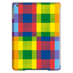 Plaid Multicolored Tablet Case
