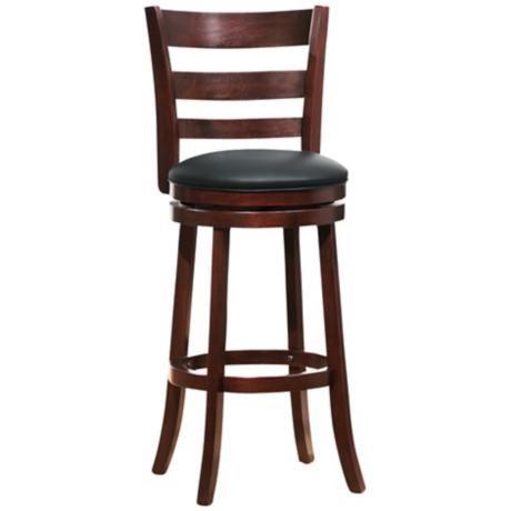 Homebelle Horizontal Slat Back 29 Swivel Bar Stool 2g719 Lamps Plus Bar Stools Swivel Bar Stools Bar Height Stools 29 inch bar stools with back