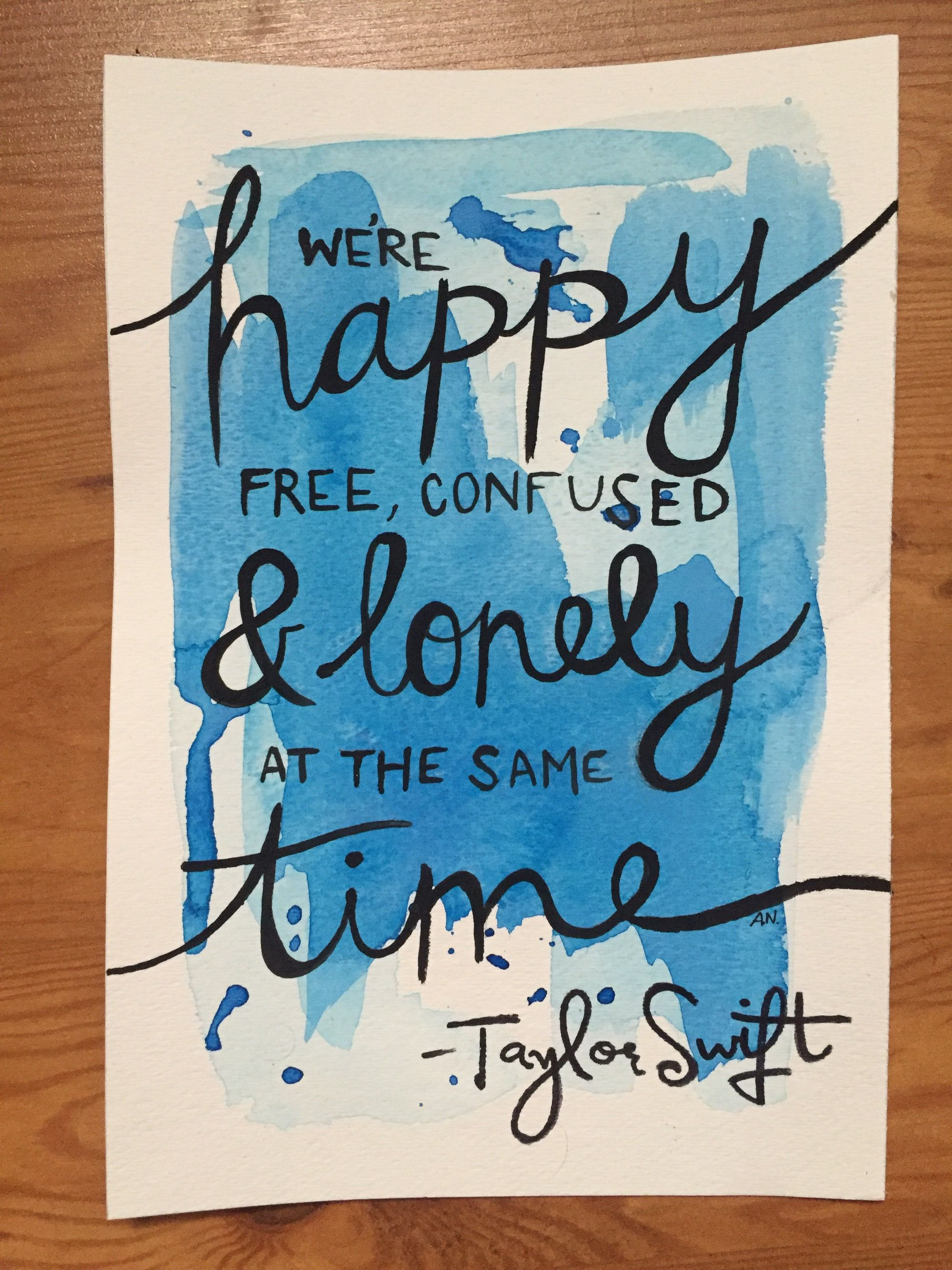 Taylor Swift Watercolor Quote Poster Artbyaleisha Taylor Swift