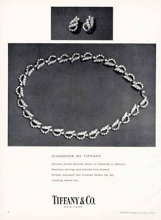 TIFFANY CO Diamond Necklace Ad