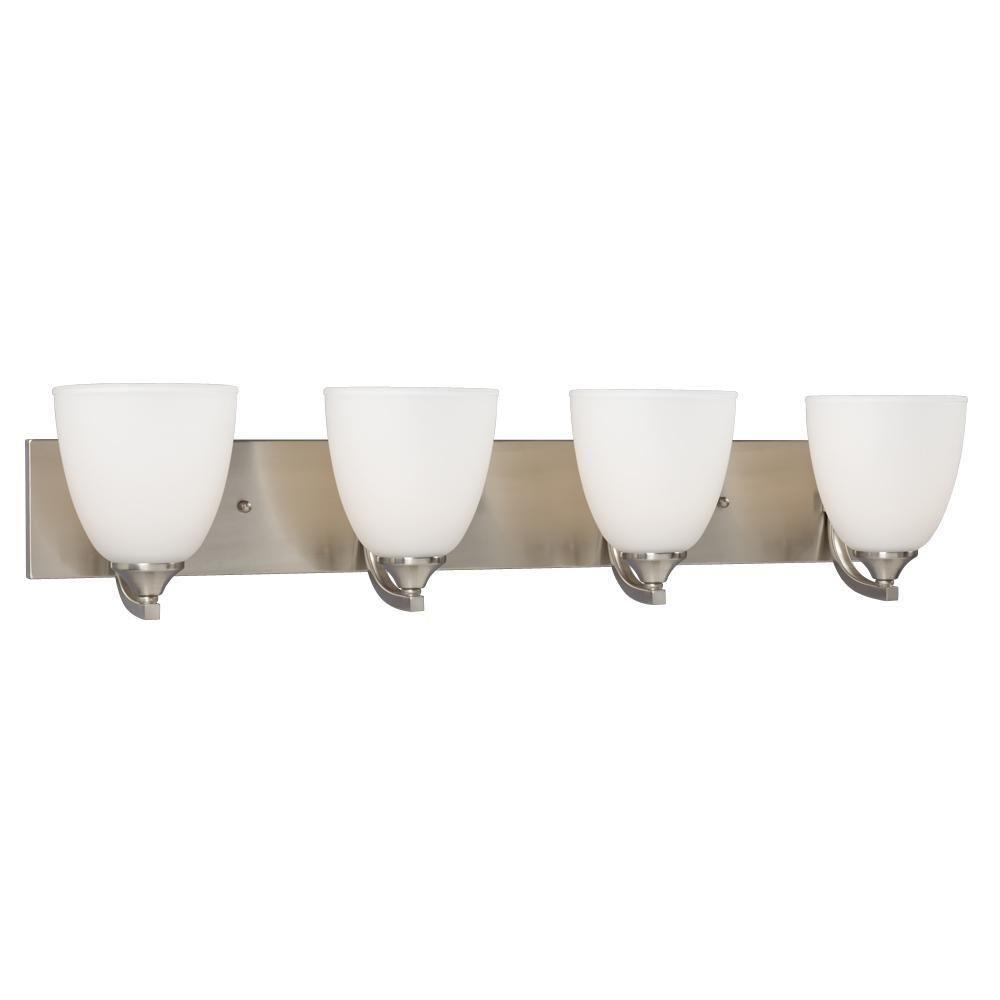 Filament Design Brook 4 Light Brushed Nickel Bath Vanity Light