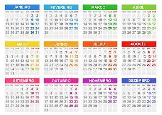 Pin de Diene Resende em Calendários | Calendario 2016