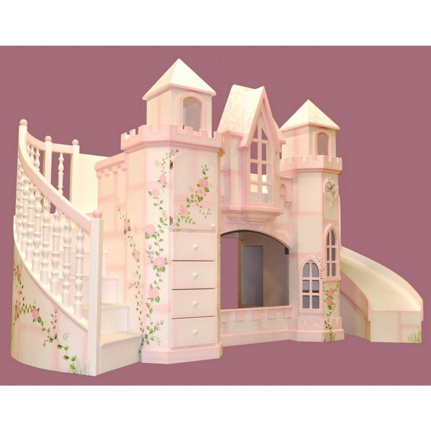 Bedroom furniture for girls castle - Vintage Trailer Loft Bed And Luxury Kid Furnishings Including Armoires In Childs Furniture