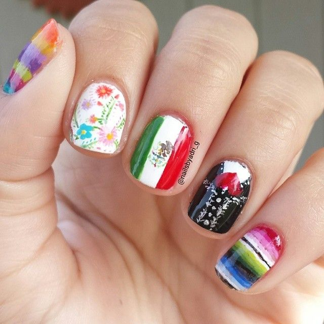 Cinco de Mayo Nails | Cute Nails | Pinterest | Cinco de Mayo, Uñas ...