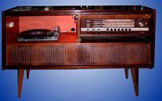 Grundig Meuble Stereo Avec Tourne Disque Tourne Disques Radio
