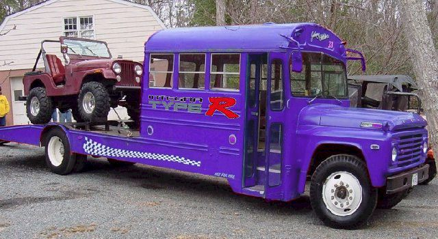 Schoolbus converted to a camper/Jeep hauler?? - Pirate4x4