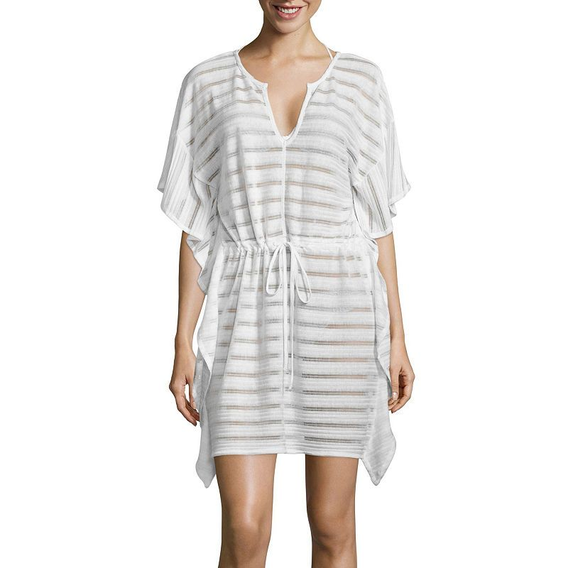 58780d6ecd Porto Cruz Stripe Knit Swimsuit Cover-Up Dress | Products | Knitted ...