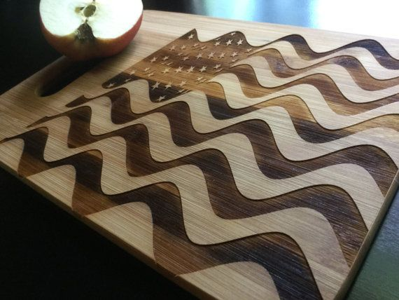 sweetlooking unique cutting boards. Personalized Laser Engraved Bamboo Cutting Board  American Flag United States Of America US Veteran Gift Veterans Wife