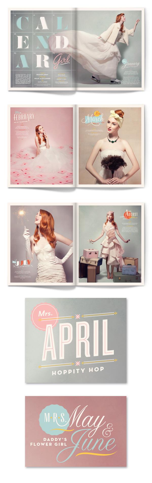 """Calendar Girl"" by Matt Chase at ""Design Army"" - #design #layout #calendar #girl"