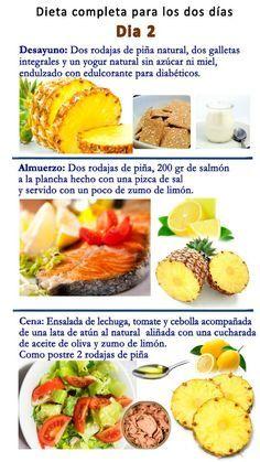 Dieta de la pina menu