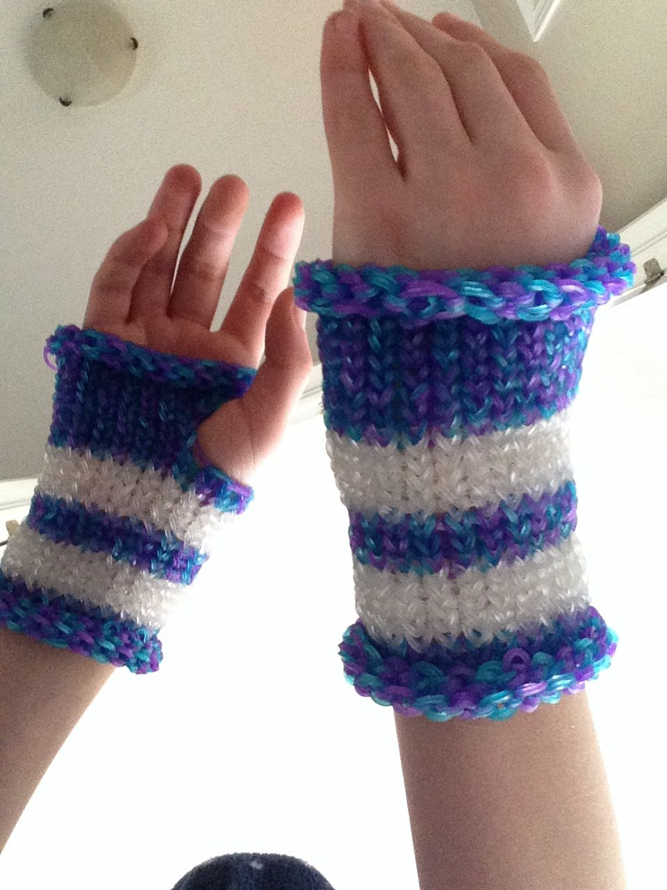 rainbow loom fingerless gloves loom bands pinterest