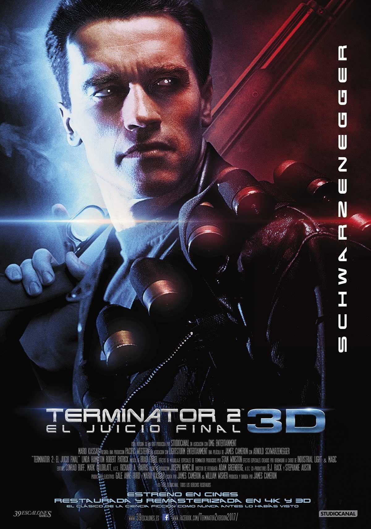 Terminator 2 El Juicio Final Remasterizada 2017 Terminator 2 Terminador Afiche De Pelicula