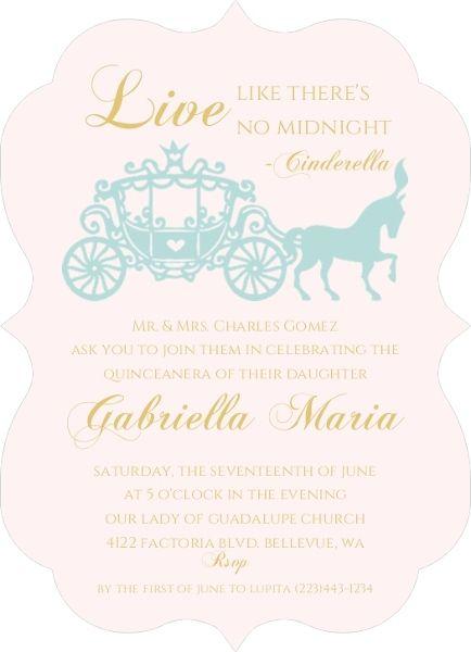 Royal Ball Quinceanera Invitation Quinceanera Invitations Sweet Sixteen Birthday Invitations Quinceanera Invitations Cinderella Invitations