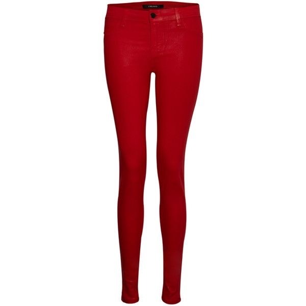 J Brand 801 Coated Skinny Jean – Coated Adra Red ($80) ❤ liked on Polyvore featuring jeans, pants, bottoms, pantalones, calças, coated adra red, denim skinny jeans, cut skinny jeans, skinny fit denim jeans and skinny jeans