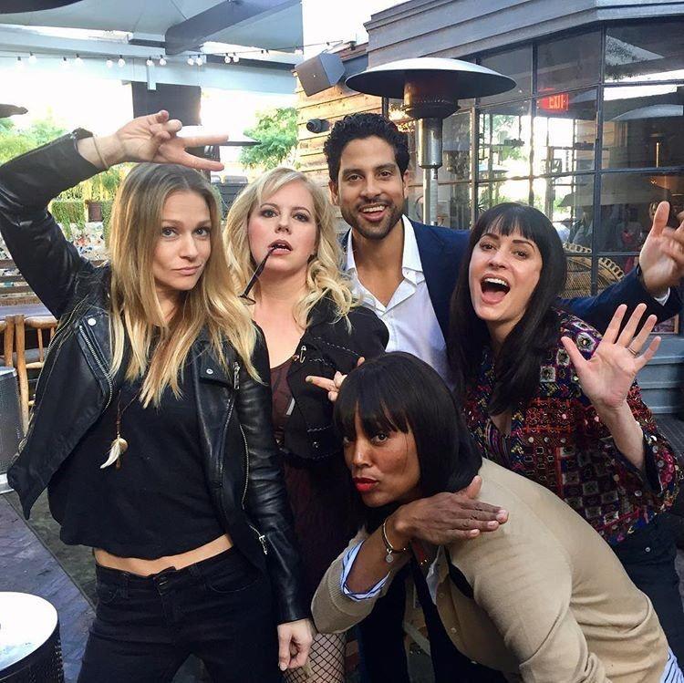 AJ Cook / Paget Brewster / Kirsten Vangsness / Adam Rodriguez /  Aisha Tyler  Criminal Minds cast hanging out.