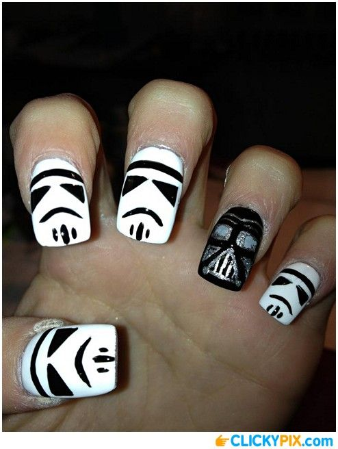 Star Wars Nail Art Get Your Geek On Pinterest Star Wars Nails