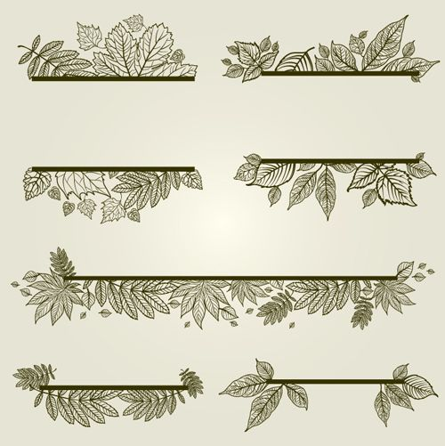 Vector autumn leafs frames with borders fall leaves drawing free eps also stuff rh pinterest