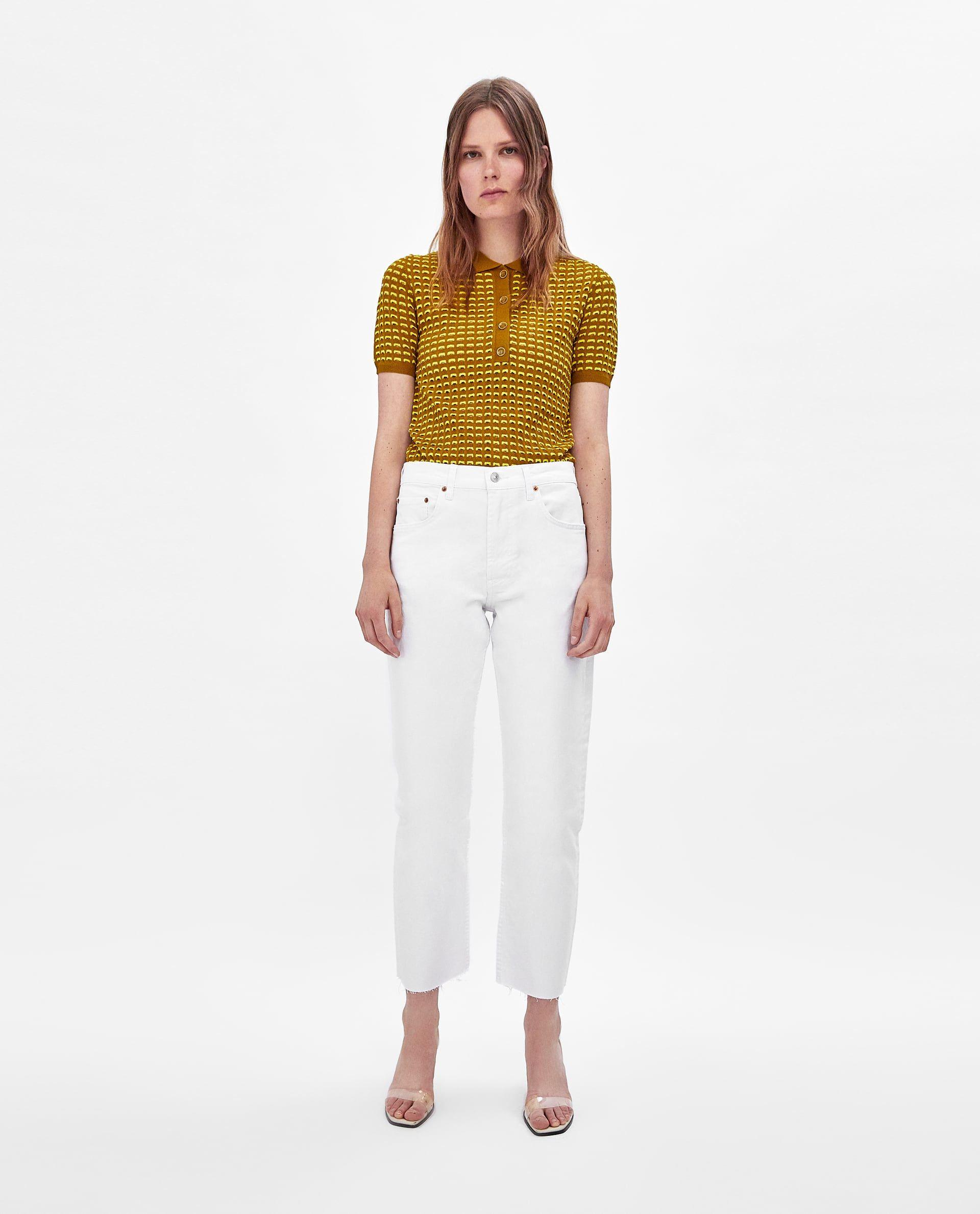 294d6f1f JEANS NEW STRAIGHT WHITE | Zara fashion | Best white jeans, White ...