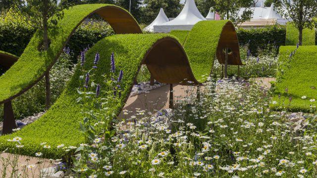 RHS Hampton Court Palace Flower Show 2016: The World Vision Garden.  Designed By John