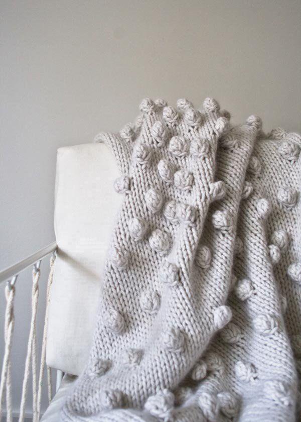 Falling Bobbles Blanket | Purl Soho | mantas dos agujas | Pinterest ...