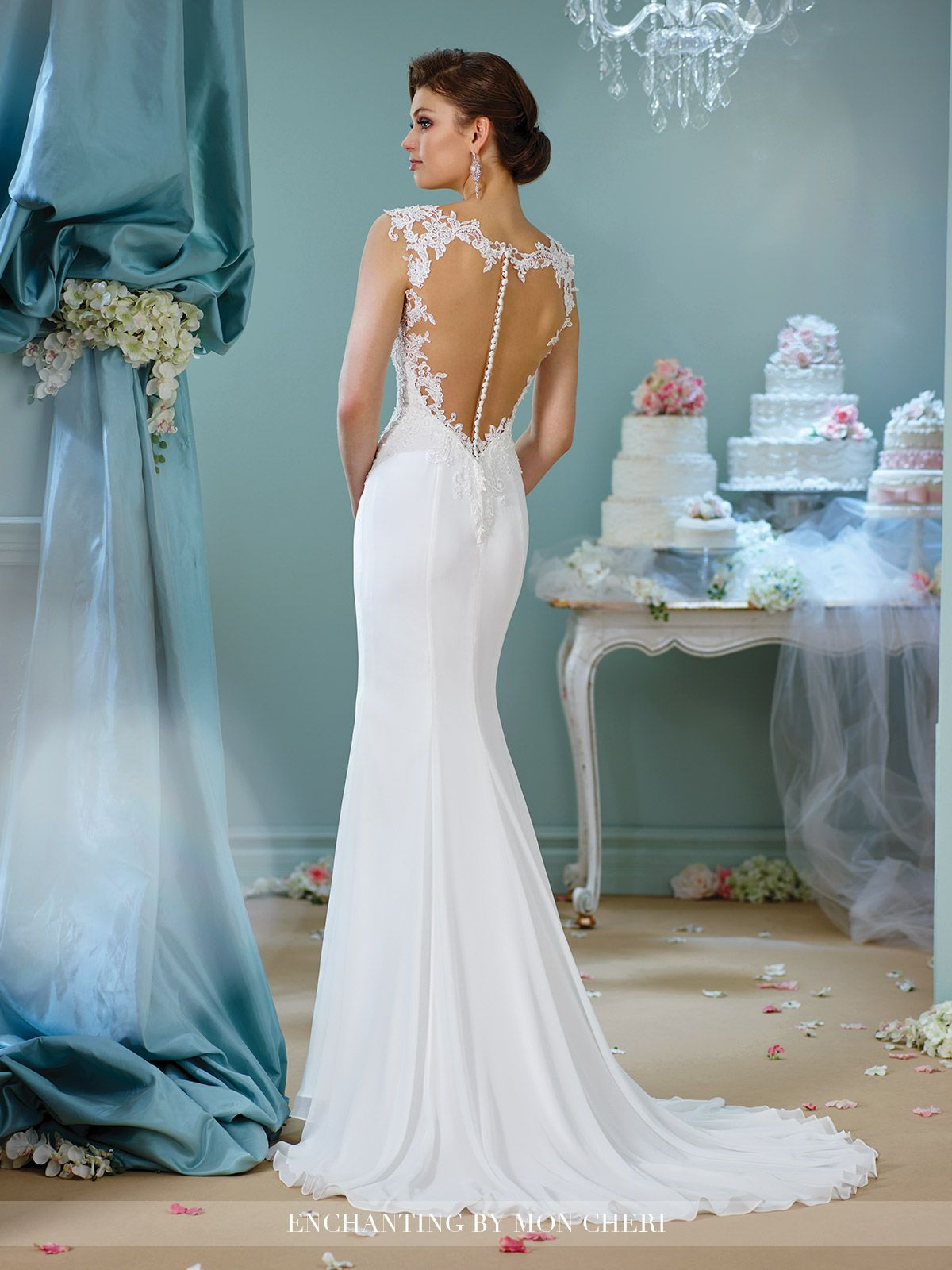 Beaded Cap Sleeve Wedding Dress-216152- Enchanting by Mon Cheri ...