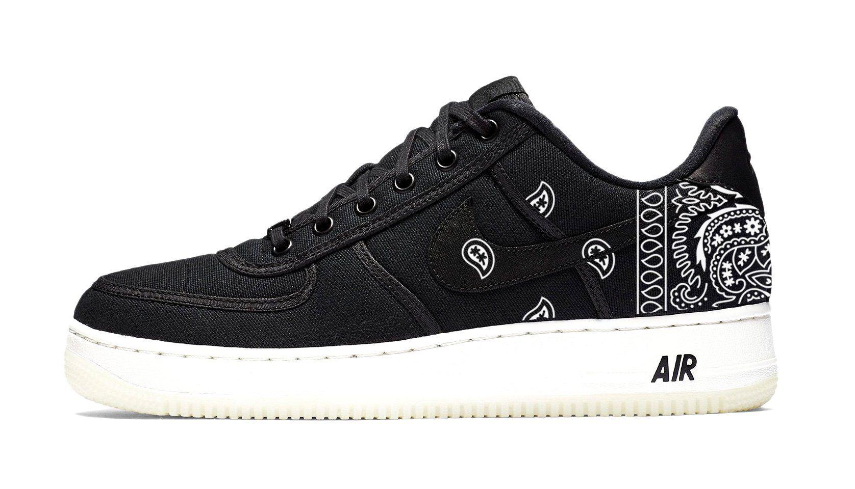 Bandana Fever White Bandana Print Custom Black/White Nike