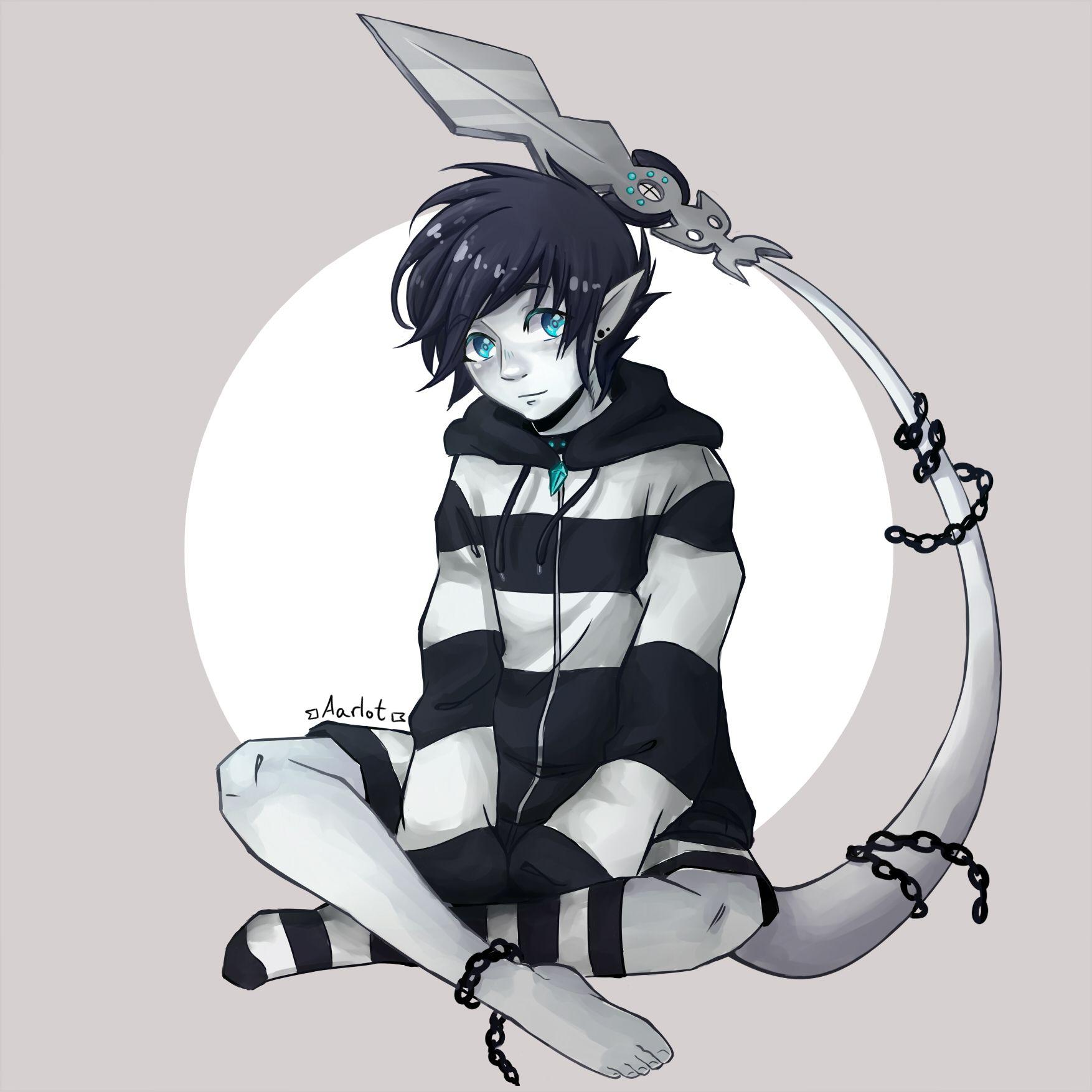 Digital Art Boy Demon Anime Tail Fantasy Painttollsai Aarlot Aarlotyoru Anime Anime Art Fantasy Anime Art Tutorial