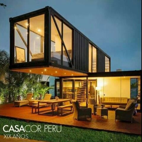 Perfecta superposición Containers house Pinterest House