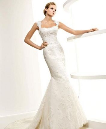 Lace Straps Vintage Wedding Dresses Mermaid Si Quiero