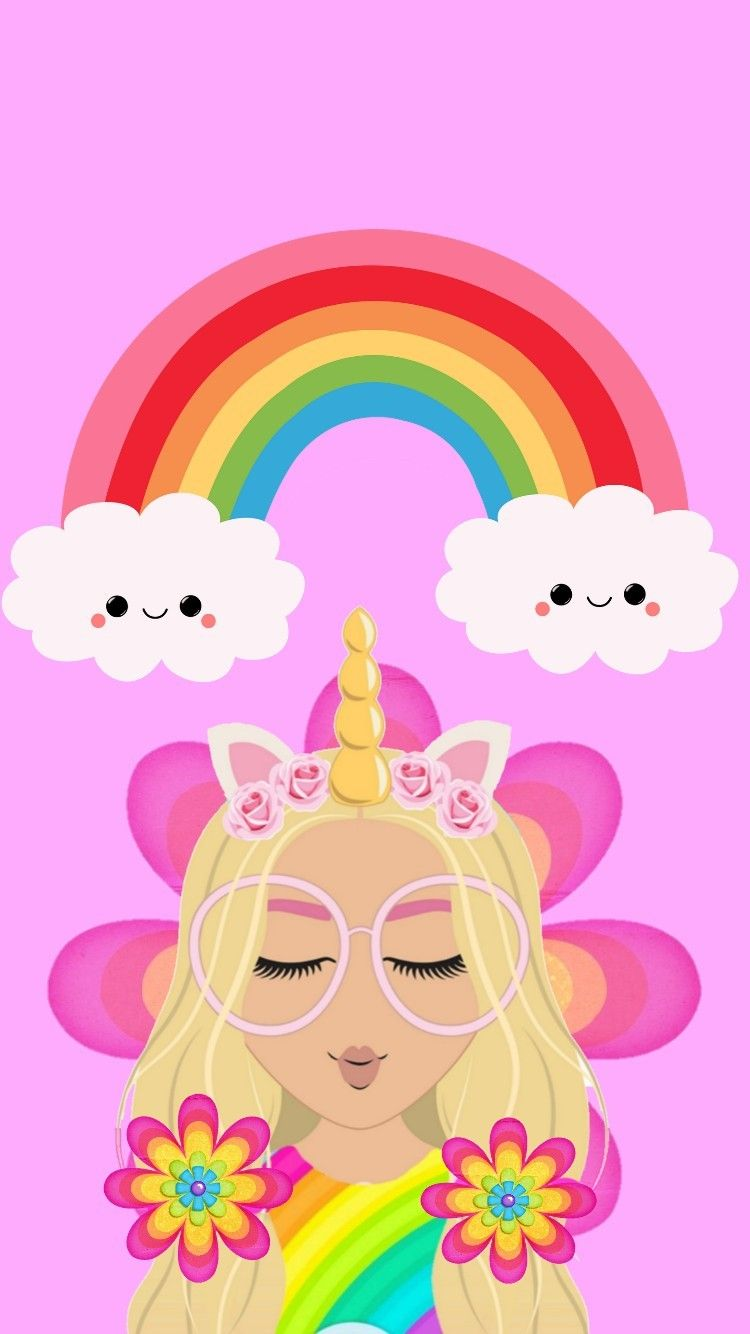 Pin By Imane Crazy On Wallpapers Unicornio Cute Emoji Wallpaper Unicorn Wallpaper Kawaii Wallpaper