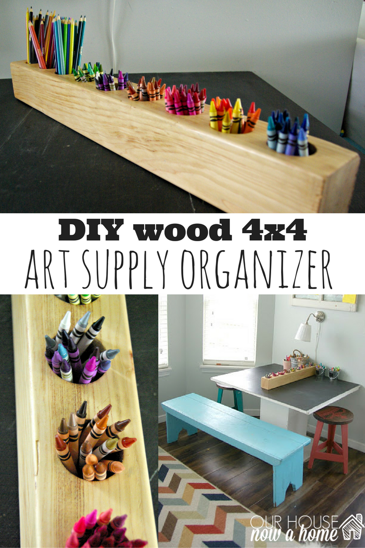diy wood 4x4 project | blogger home projects we love | pinterest