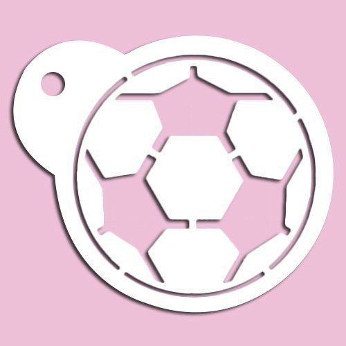 Soccer Ball Stencil | Football, Stenciling and Soccer cookies