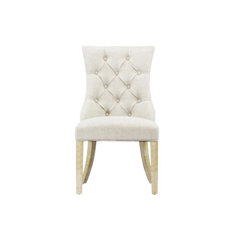 Martini Oatmeal Linen Dining Chair Set Of 2 Dwc 202om Linen