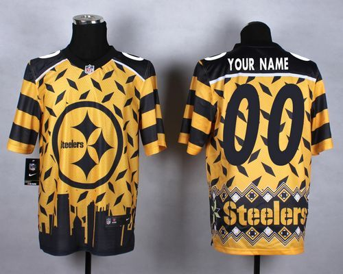 1e8fd8b3354 ... Blank, #84 Antonio Brown, #7 Ben Roethlisberger, #43 Troy Polamalu - Nike  Pittsburgh Steelers Gold Men Stitched NFL Elite Noble Fashion Jersey