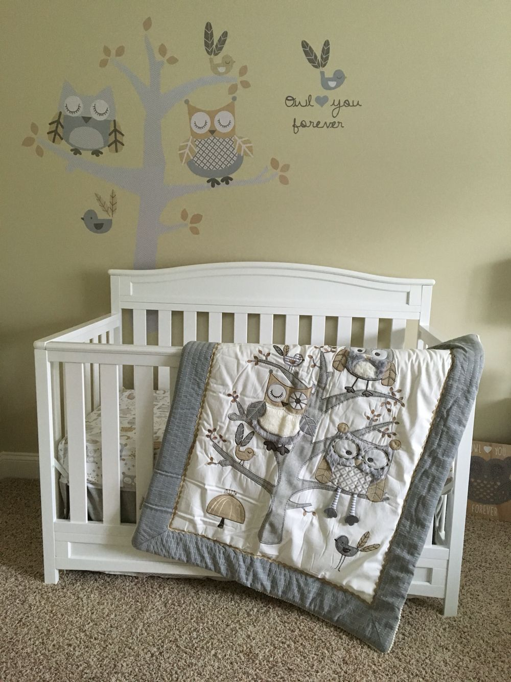 Levtex Baby Night Owl Crib Set Avery S Nursery Baby Room
