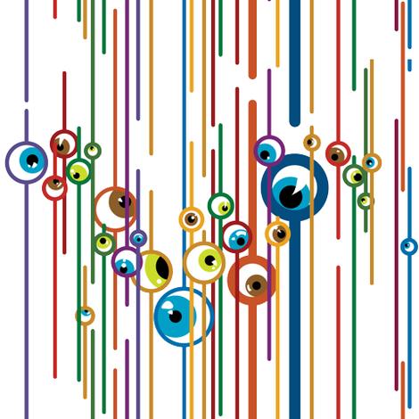 Colorful Fabrics Digitally Printed By Spoonflower Eyeballs