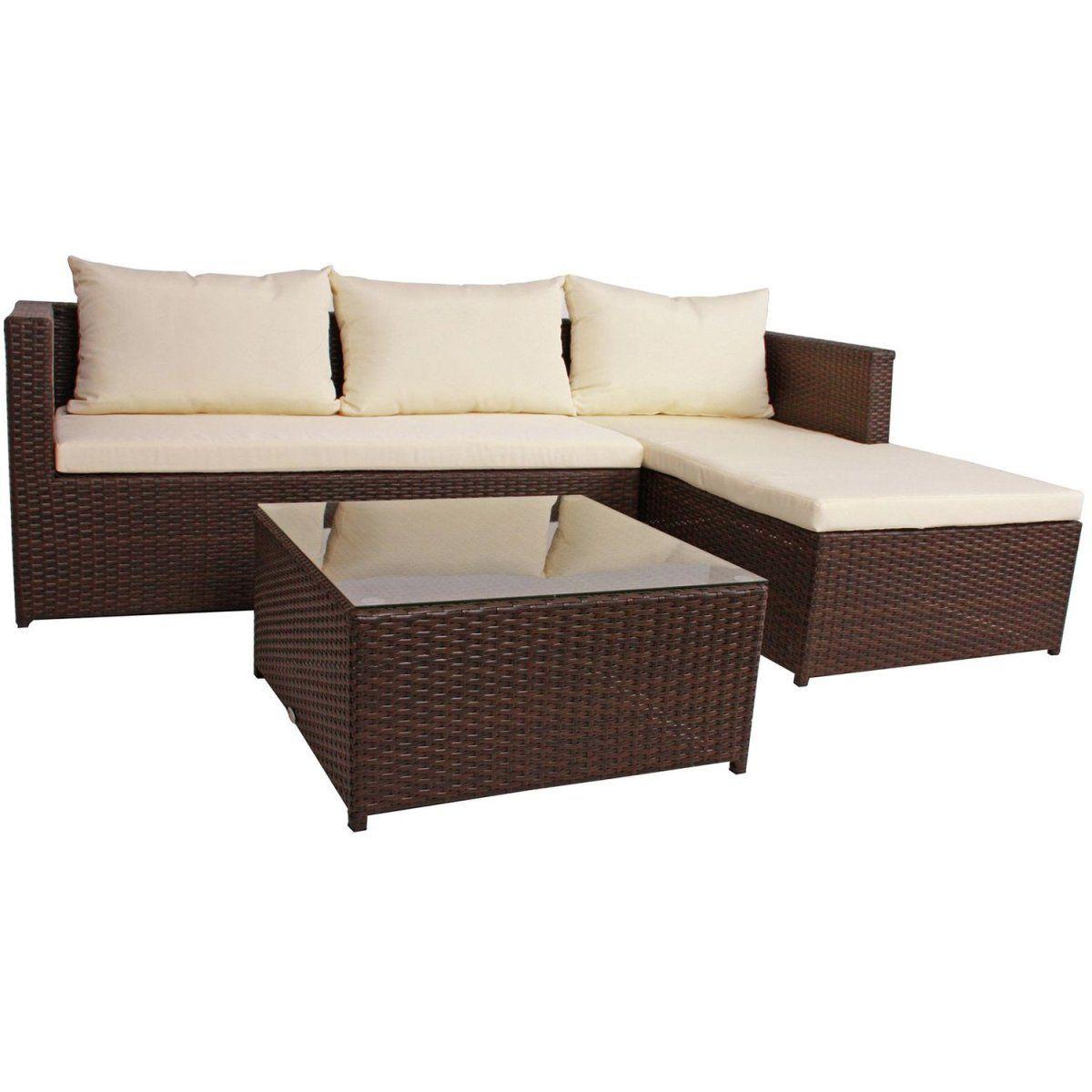 Garden Pleasure Lounge Eckgruppe Camden 3 Tlg Braun Jetzt