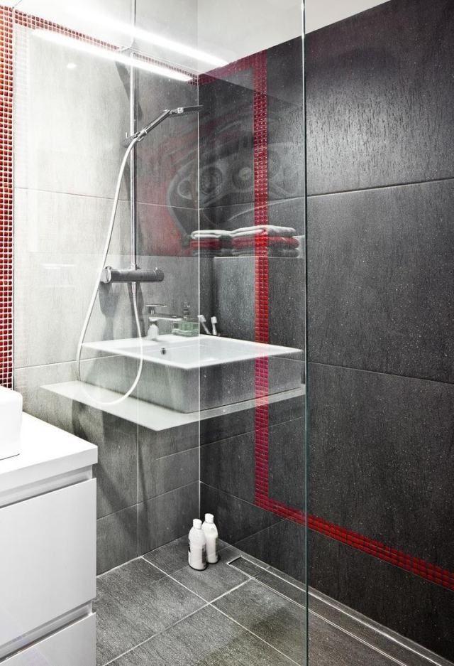 Am nagement salle de bain douche italienne paroi for Amenagement salle de bain italienne