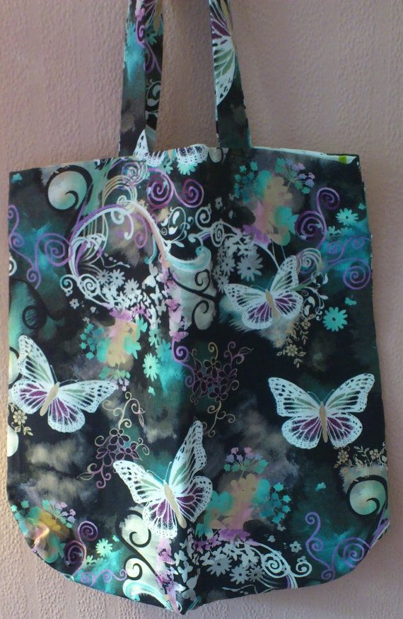 Butterfly Fabric Tote Bag by EmmsCullen on Etsy, $19.50