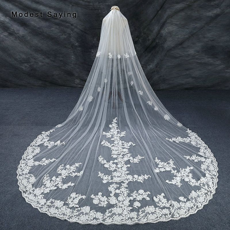 Photo of US $86.4 10% OFF|High Quality Monarch Ivory 3.5M Lace Weddin…