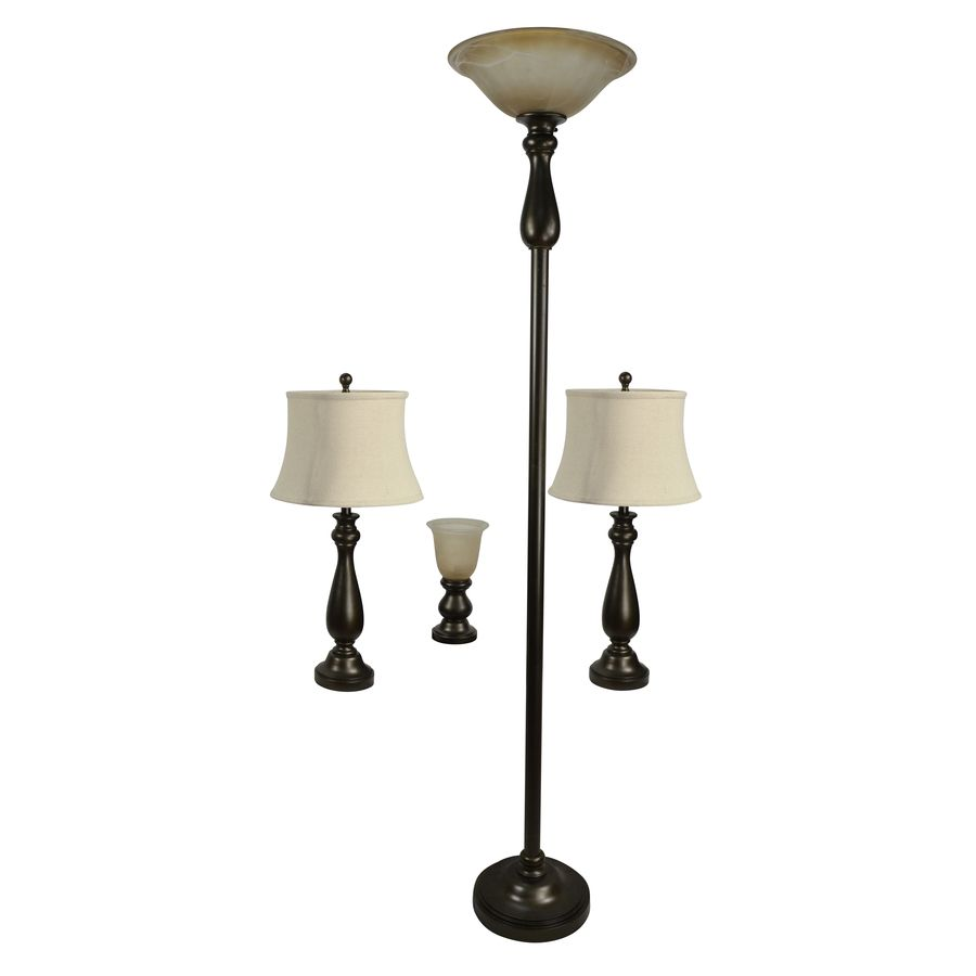 Portfolio Baybrook 4 Piece Standard Lamp Set With Bronze Shades Lowes Com Lamp Sets Bronze Lamp Fabric Shades