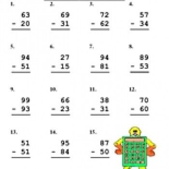 Double Digit Subtraction Worksheet | Subtraction worksheets ...