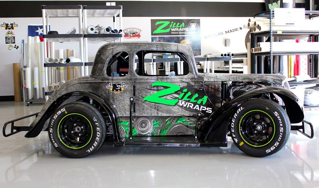 Custom Race Car Wrap Dallas - Zilla Wraps is proud to sponsor M3 ...