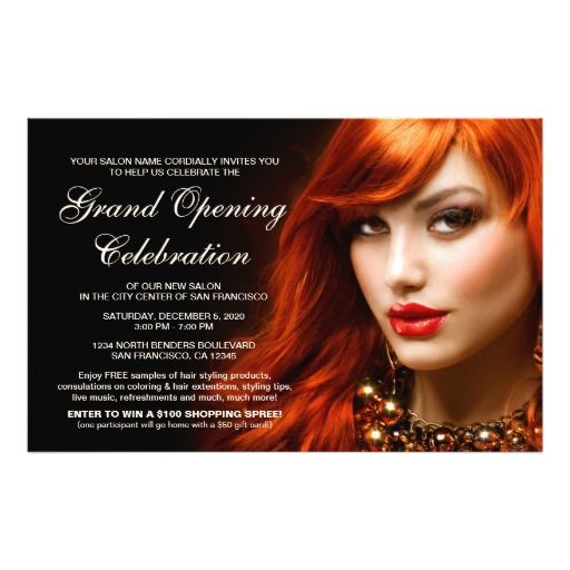 Hair Salon Grand Opening Flyers Template Grand opening, Flyer - hair salon flyer template
