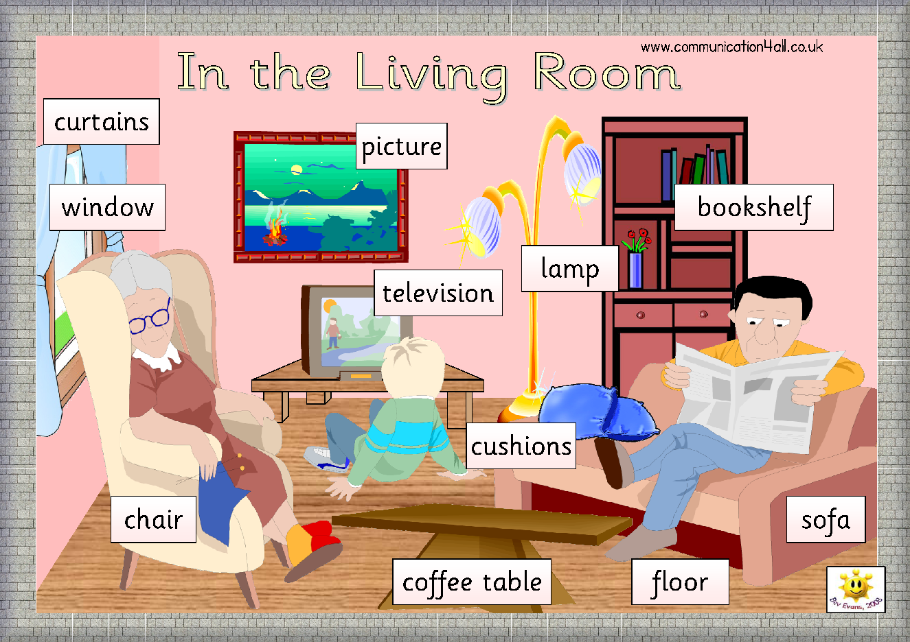 Living room things vocabulary for Living room vocabulary
