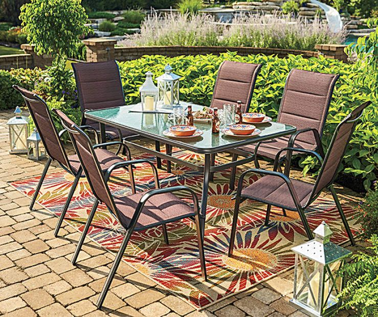 Wilson Fisher Aspen Glass Top Table Patio Dining Set At Big