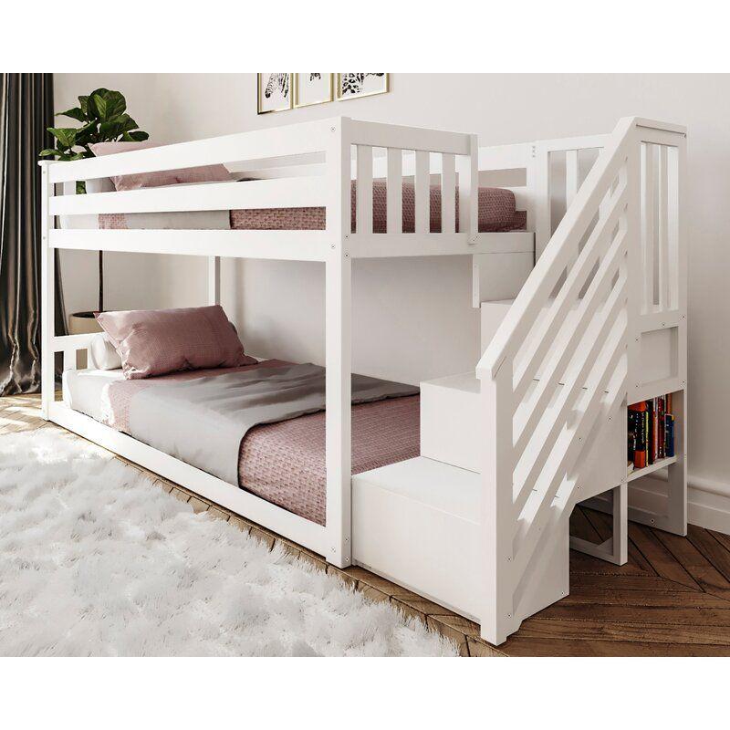 Harriet Bee Kean Twin Over Twin Bunk Bed Reviews Wayfair Bunk Beds For Girls Room Bed For Girls Room Girls Bunk Beds Cheap twin over twin bunk beds