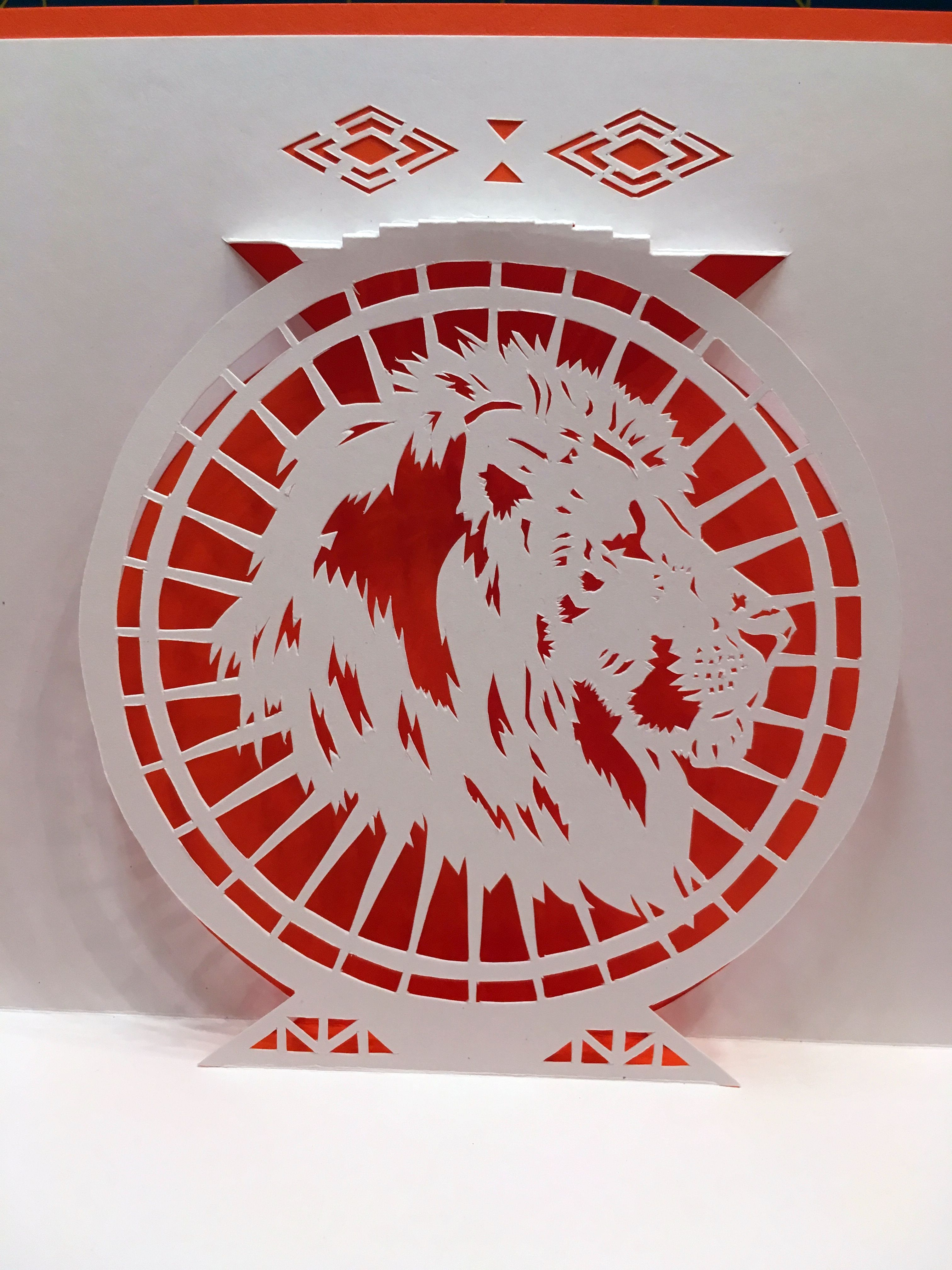 Lion Pop Up Card Template From Cahier De Kirigami 18 Pop Up Card Templates Kirigami Templates Paper Crafts