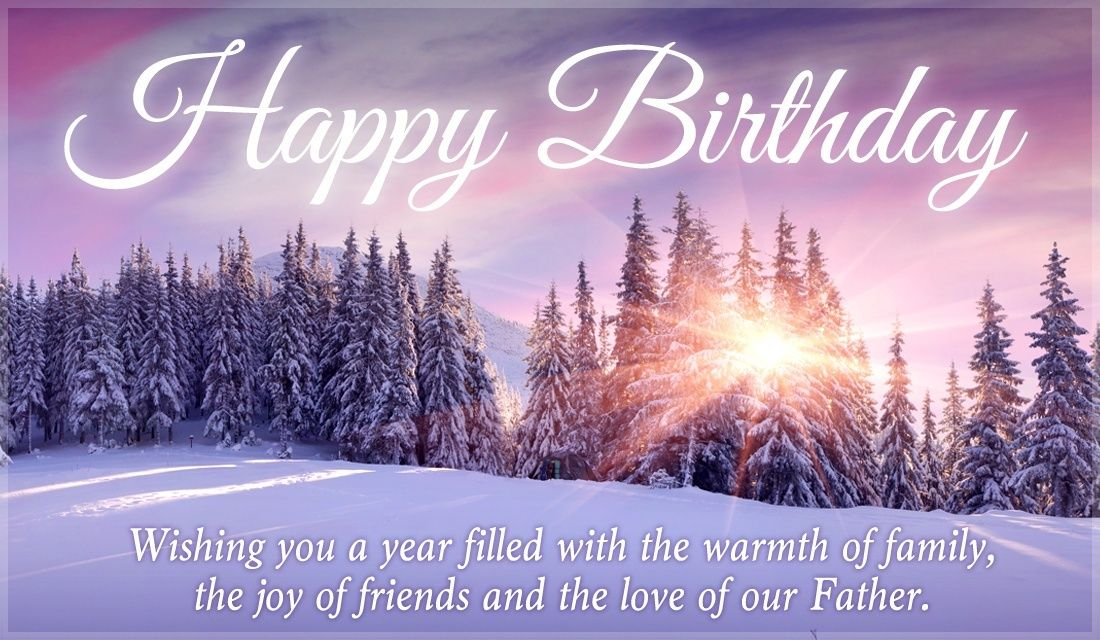 Send This Free Happy Birthday Winter Scene Ecard To A Friend